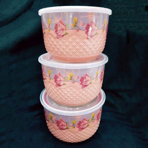 ظروف فریزری گلدار سه سایز