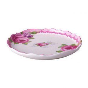 شیرینی خوری گرد تخت بزرگ گلدکیش GK618215 Pink