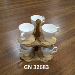 فنجان و نعلبکی شش نفره همراه با استند GN32683