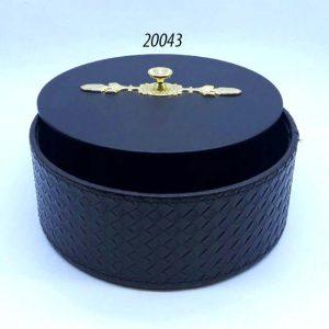 باکس گرد درب دار چرم (کد 20043 )