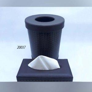 سطل و جا دستمال گرد چرم (کد 20037 )