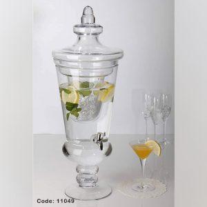 کلمن شیشه ایی دارای محفظه یخ مجزا (کد 11049)