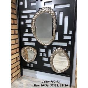 آیینه سه سایز آلومینیوم 42-780