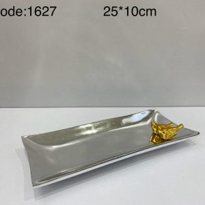 ظروف پذیرایی آلومینیوم کد 1627 در دو رنگ طلایی و نقره ای