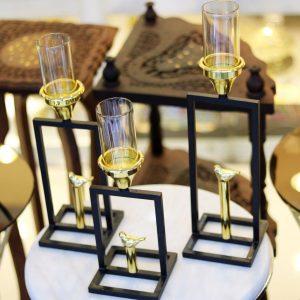 جا شمعی رو میزی ۳-۱۳۰۱ ارتفاع به ترتیب ۳۰-۳۵-۴۱ عرض ۱۱ سانت
