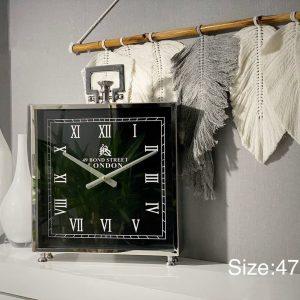 ساعت مربع استیل بزرگ