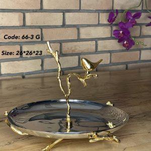 شیرینی استیل و پرنده طلایی 3-66