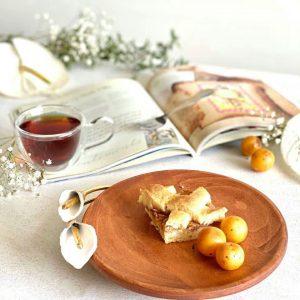 پیش دستی چوب و گل شیپوری برنجی 01050002414
