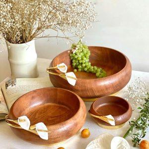 آجیل خوری چوب و گل شیپوری برنجی 01050002224