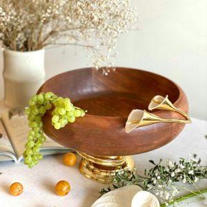 میوه خوری پوب و گل شیپوری برنجی 01050022321